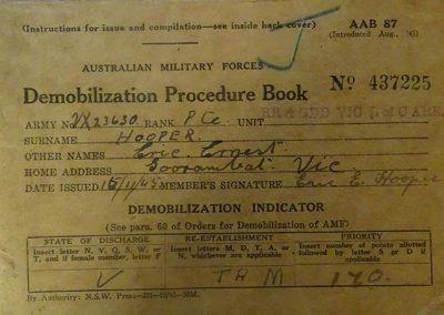 Demobilization Procedure Book.