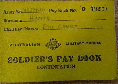 Eric's Pay Book.