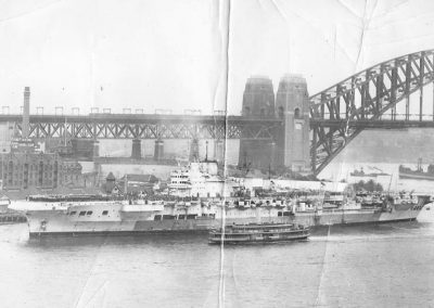HMS Formidable Arriving in Sydney.