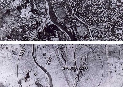 Nagasaki Before and After the Bomb.