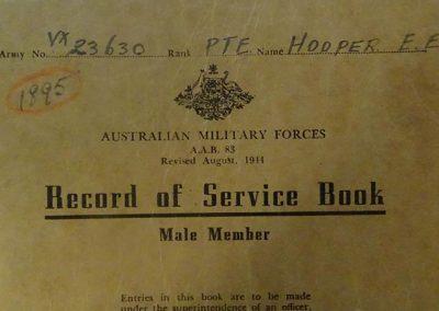 Record of Service Book.