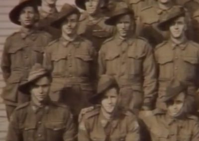 Eric with men of the 2/2 Pioneers Battalion at Puckapunyal.